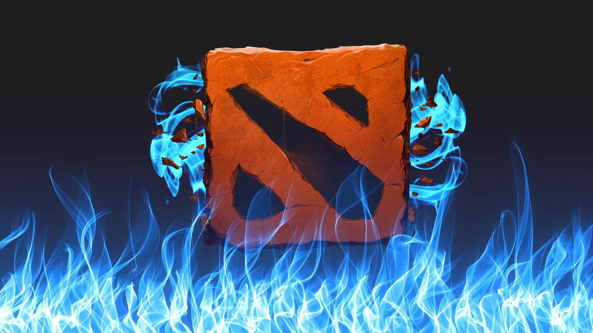 Dota 2 Logo Flame 02 Wallpaper HD