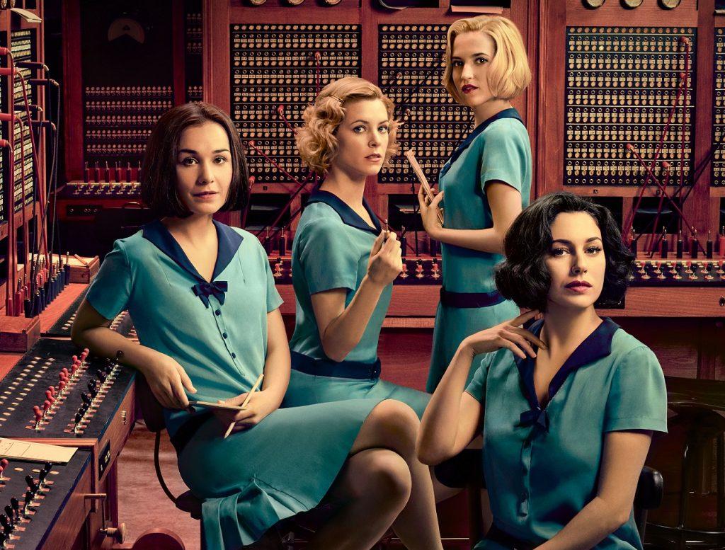 Imagen promocional de las protagonistas de Las Chicas del Cable, nueva serie de Netflix