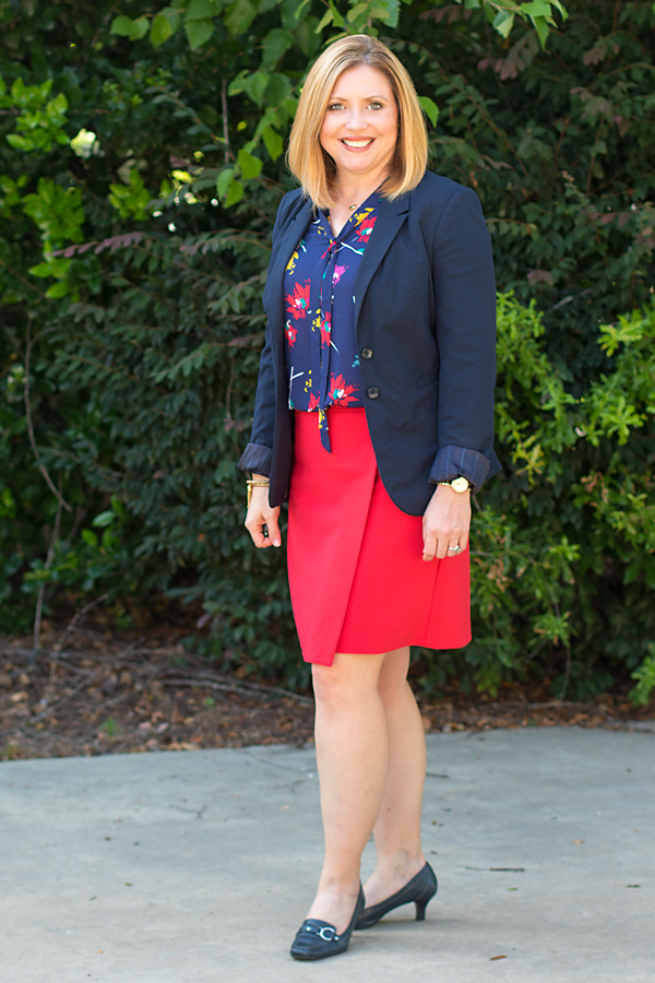 tie neck top, office outift