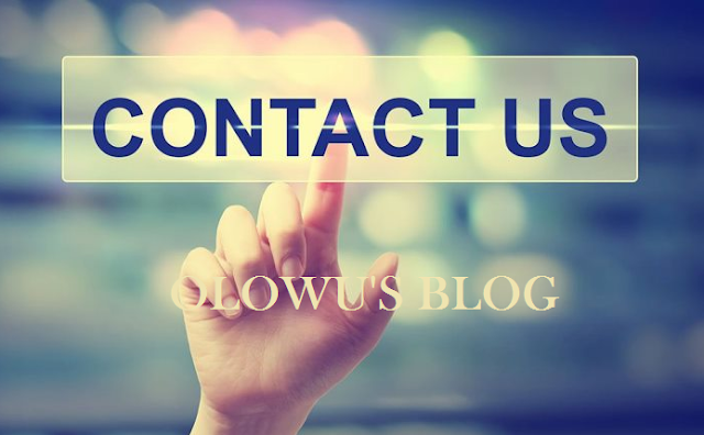 Olowus Blog Contact Page