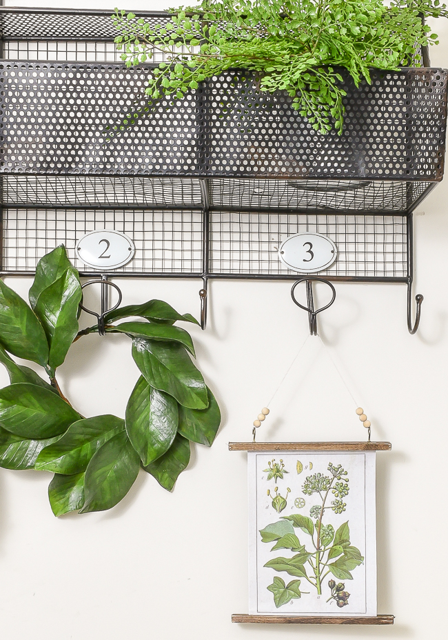 how to make a botanical wall hanging