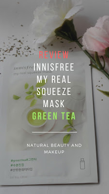 Innisfree My Real Squeeze Mask Green Tea, Sheet Mask, Korean Skincare, NBAM