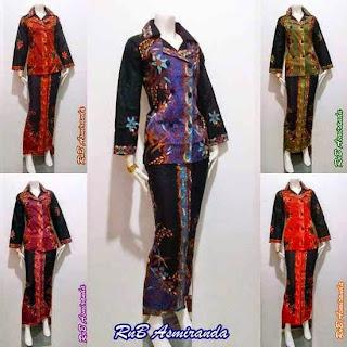 Baju Batik Setelan Terbaru Model Rok Blus Untuk Pesta Pernikahan