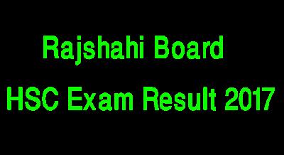 Rajshahi Education Board HSC Result 2017
