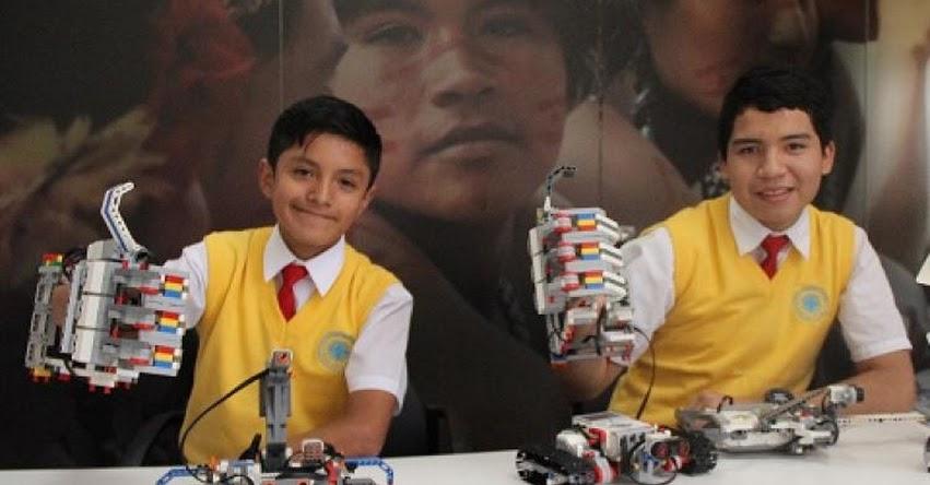 MINEDU: Escolares del COAR crean brazo robótico controlado con la voz - www.minedu.gob.pe