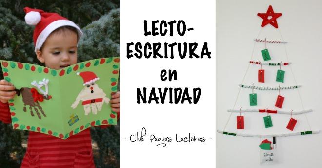 practicar lectoescritura en navidad