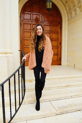 kate bartlett, furry coat, pink coat, teen style, teen outfit inspo