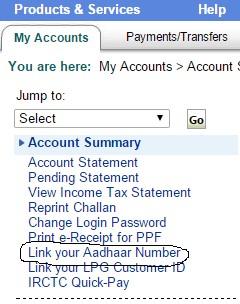 Link Your SBI Bank Account with Your Aadhaar Card Online