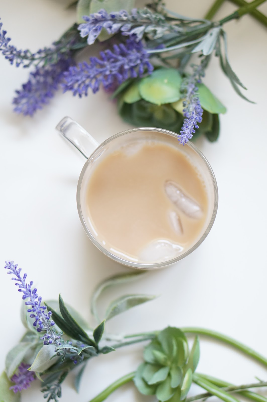 Popular North Carolina style blogger Rebecca Lately shares her recipe for Iced Lavender Chai Latte.  Click here to check out this delicious summer drink!