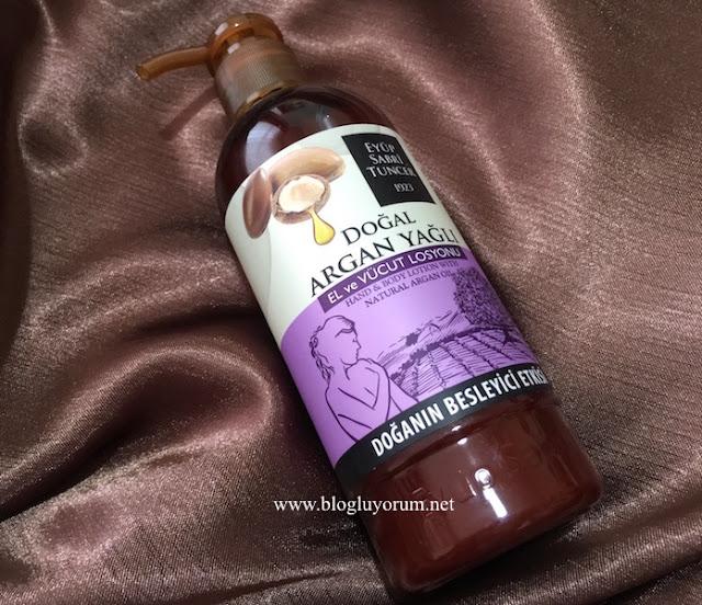 eyüp sabri tuncer doğal argan yağlı el ve vücut losyonu