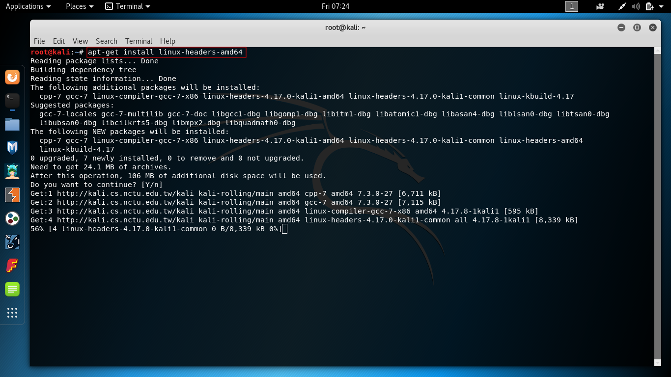 install driver for network adapter kali linux