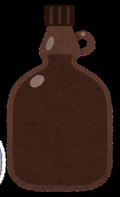 試薬瓶のイラスト3(茶色)