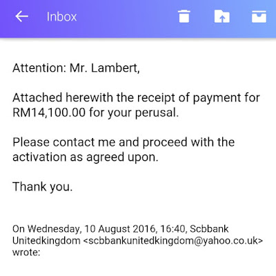 typical online bank fraud email that you should be careful and report it