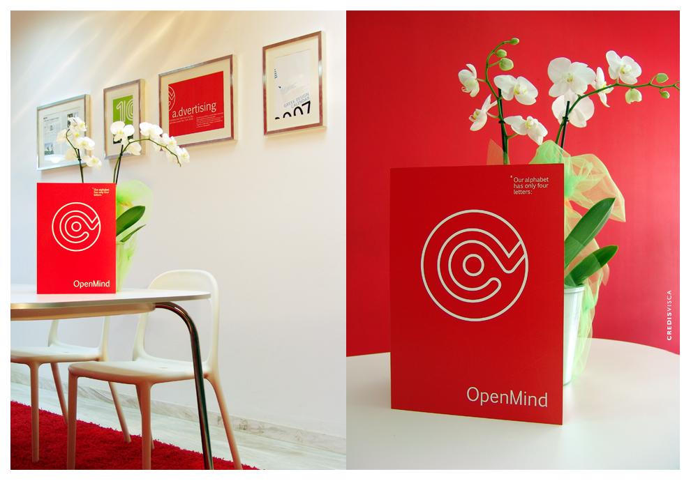 Concept, Branding, Έντυπο, Εγκαίνια και Διακόσμηση για το Δημιουργικό Γραφείο Openmind στη Γλυφάδα