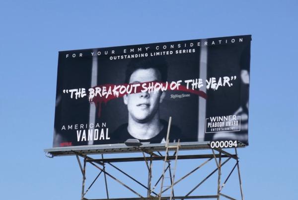 American Vandal 2018 Emmy FYC billboard