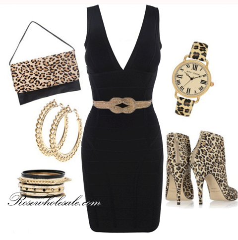 Outfit Animal Print Leopardo con Maquillaje
