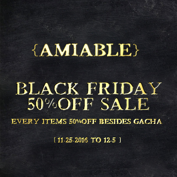 {amiable}Black Friday SALE2016 & Special thanks Group Gift.