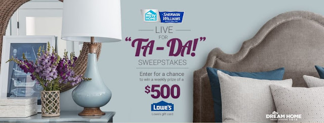 HGTV TA-DA SWEEPSTAKES