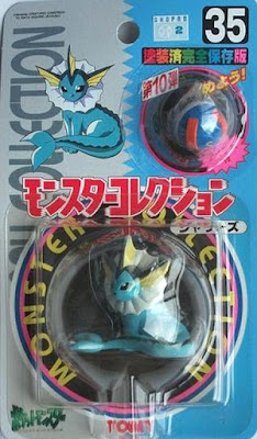 Vaporeon Pokemon figure Tomy Monster Collection series