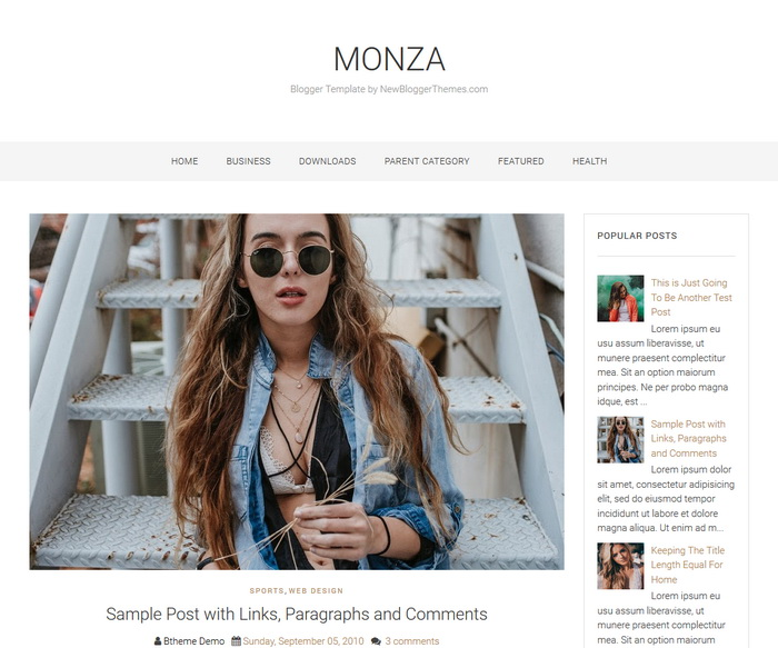 columns blogger subject for blogging websites Free Download Monza Blogger Template