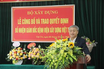 Thứ trưởng Bộ Xây dựng Bùi Phạm Khánh phát biểu tại buổi Lễ