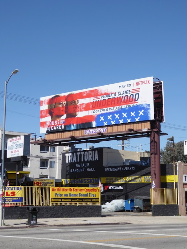 House of Cards 5 Stars and Stripes billboard