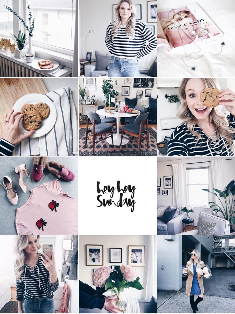 blush and pastel toned instagram account