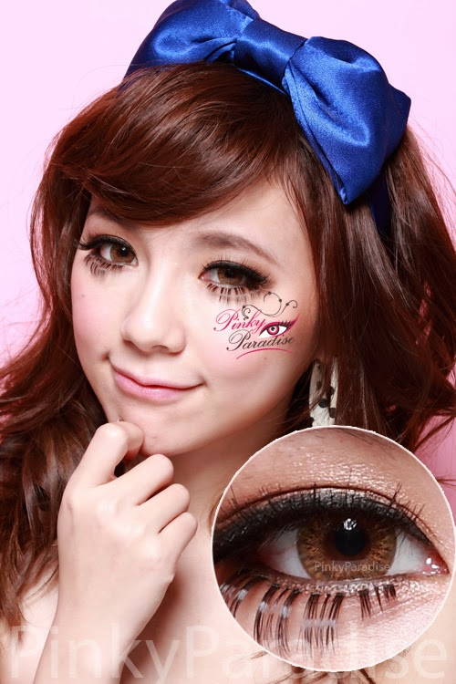 Vassen Rainbow Eyes Brownish Hazel Circle Lenses (Colored Contacts)