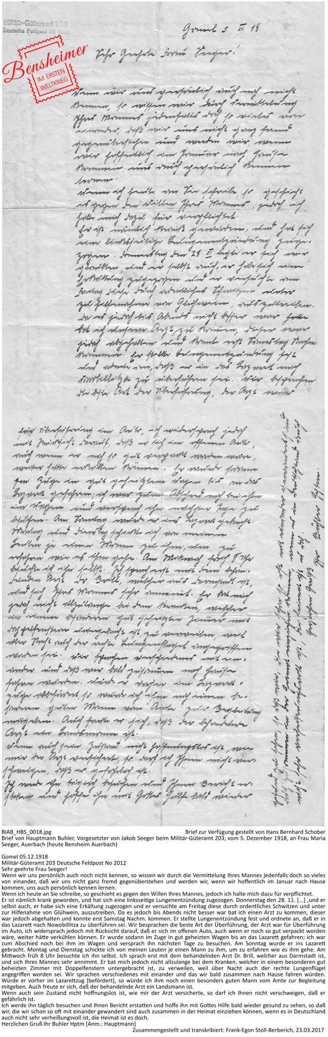 BIAB_HBS_0018.jpg Brief zur Verfügung gestellt von Hans Bernhard Schober, Dokument zusammengestellt und transkribiert: Frank-Egon Stoll-Berberich 2017