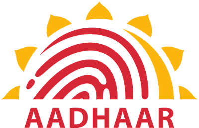Aadhar programme logo for india. The biggest biometric database of India.