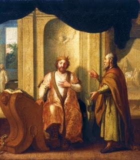 Nomes bíblicos estrangeiros masculinos com N - Imagem: Rei Davi e profeta Natã - Matthias Scheit