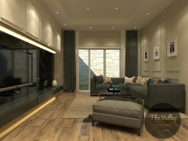 Desain Interior Ruang Keluarga Rumah - The Valley Interior Design