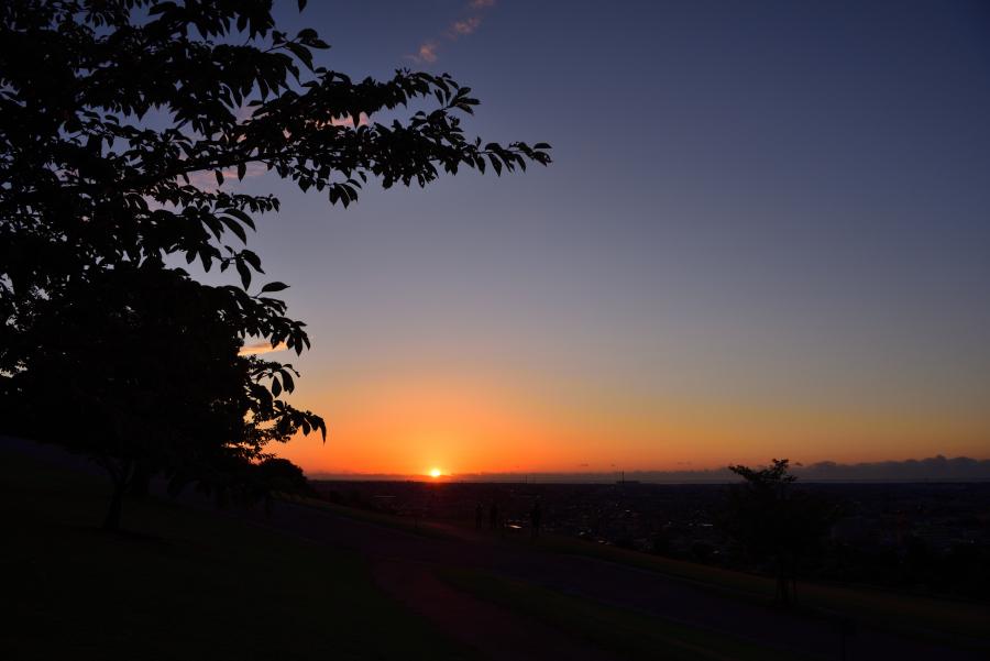 大乗寺丘陵公園の夕焼け