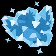 氷漬けの青い鳥のイラスト
