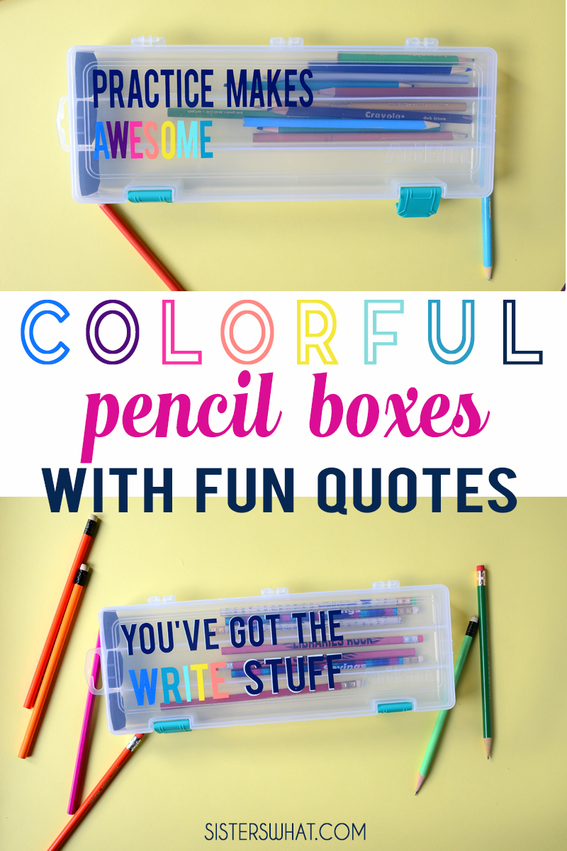 how to make a pencil box teacher gift