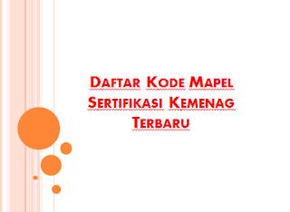 Daftar Kode Mata Pelajaran Sertifikasi Kemenag Terbaru Daftar Kode Mapel Sertifikasi Kemenag Terbaru