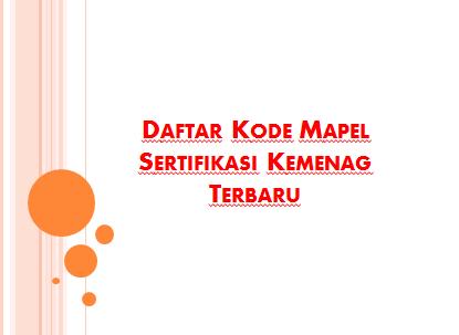 Daftar Aba-Aba Mapel Sertifikasi Kemenag Terbaru