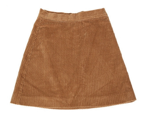 Ribbed A-Line Mini Skirt