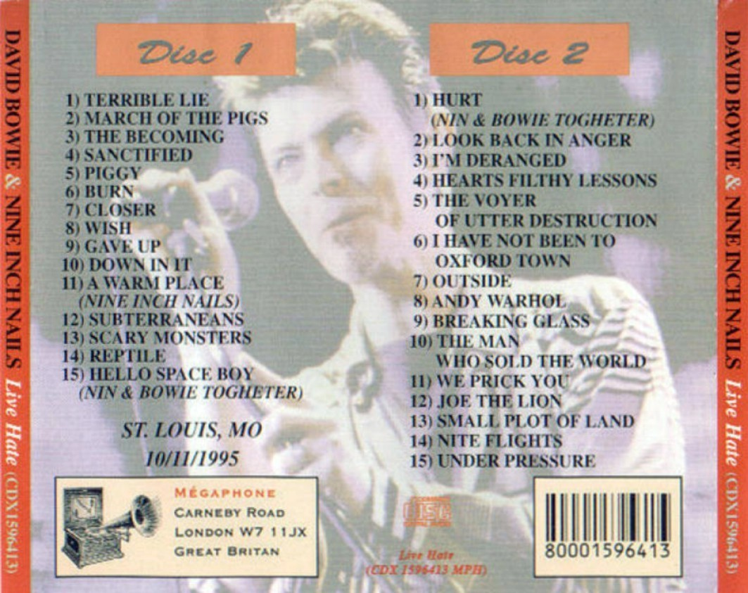 Reliquary: David Bowie [1995.10.11] & Nine Inch Nails [FM]