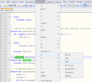 Notepad++ support multiple programming language
