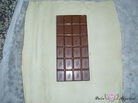 Chocolate en el centro del hojaldre