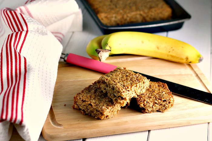 Banana and Coconut Flapjacks