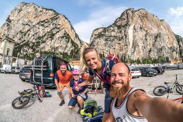 Start unserer Tour auf den Monte Castello Mountainbike mtb