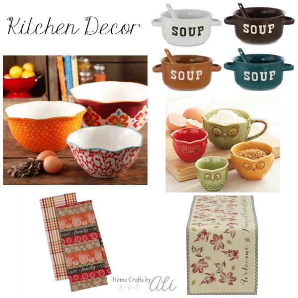 fall decor shopping kitchen bowls linens