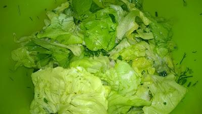 Kitzinger Apfelessig mit grünen Salat