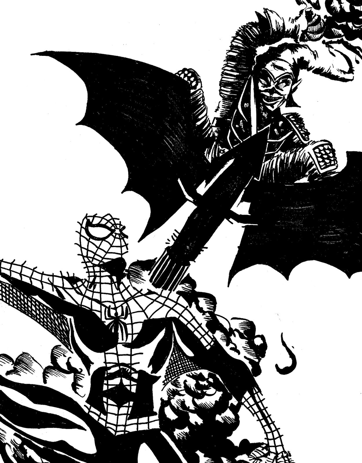 Spider man vs the green goblin for Spiderman vs green goblin coloring pages