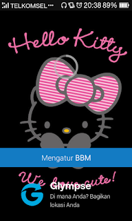 BBM Mod Black Hello Kitty v2.12.0.11 Apk Terbaru Gratis