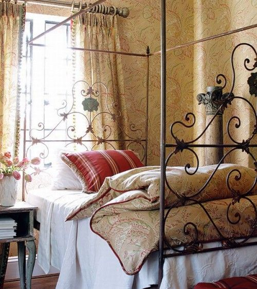 French Country Wrought Iron Bed
