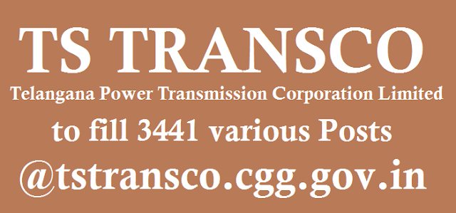 TG State, TS Jobs, TS TRANSCO jobs, Telangana Power Transmission Corporation Limited, www.tstransco.cgg.gov.in