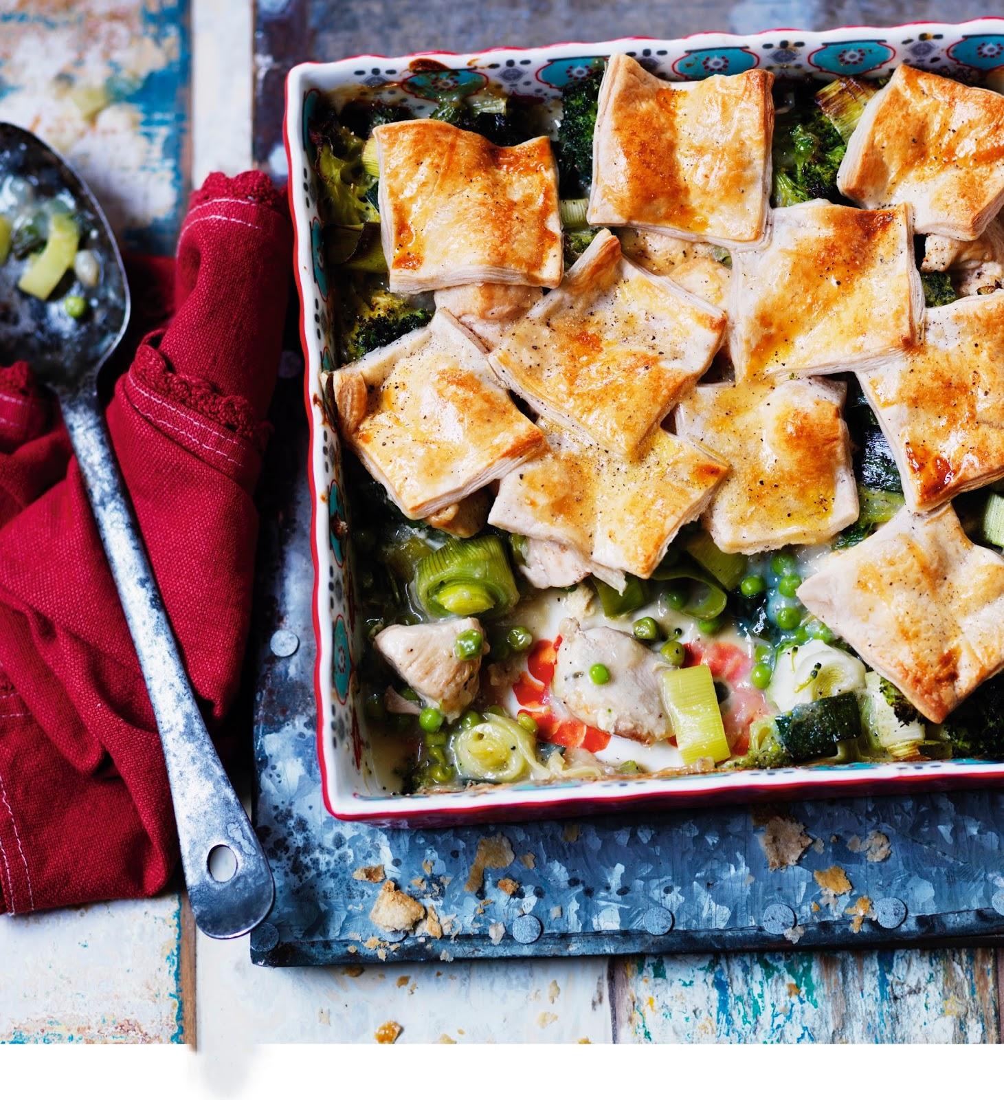 LOVE Life Chicken And Leek Patchwork Pie Recipe